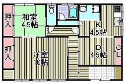 [一戸建] 大阪府泉佐野市中庄 の賃貸【/】の間取り