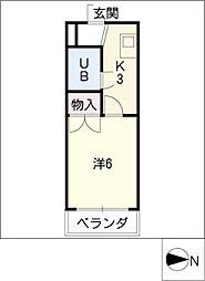 アリストムラテ[2階]の間取り