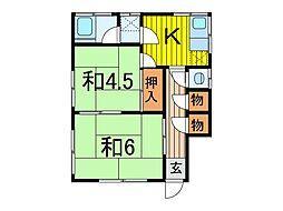 高野荘[1階号室]の間取り