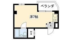 フロント久寿川[401号室]の間取り