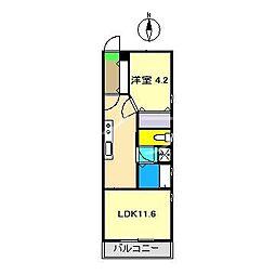 ラ・セーヌ20[3階]の間取り