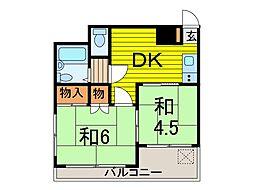 本田マンション 2号棟[510号室]の間取り