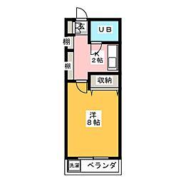 ベールフォーレ高峯[2階]の間取り