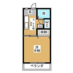 植木ハイツVI[2階]の間取り