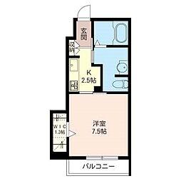 東武東上線 東武霞ヶ関駅 徒歩12分の賃貸アパート 1階1Kの間取り