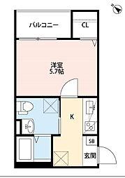 ヴィラクレール神戸[2階]の間取り