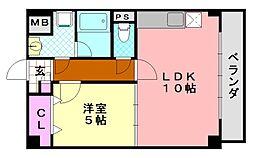 オプティマ平野上町[5階]の間取り