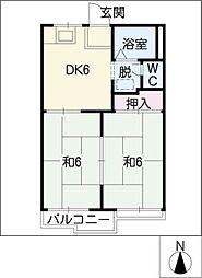 コートビレッジ竹内[2階]の間取り