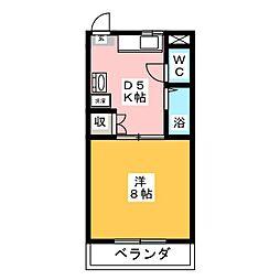 川崎ハイツII[2階]の間取り