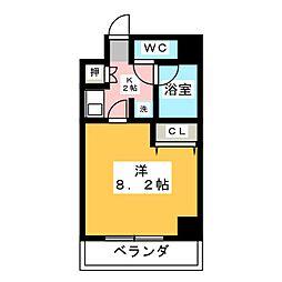 KONSORTE松原[8階]の間取り
