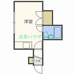 ハイツ本町A[2階]の間取り