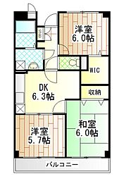 神奈川県相模原市南区西大沼5丁目の賃貸マンションの間取り