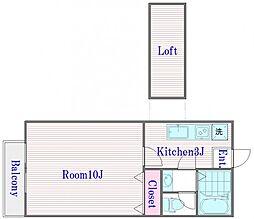 ニュープラザ[2階]の間取り