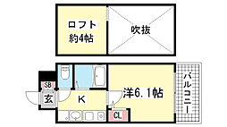 エステムコート三宮駅前ラ・ドゥー[10階]の間取り