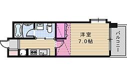 W.O.Bレマーニー昭和町[2階]の間取り