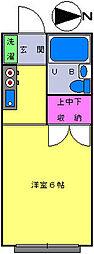 石塚コーポ[102号室]の間取り