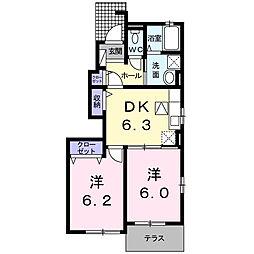 サンパティークMTⅤ[1階]の間取り