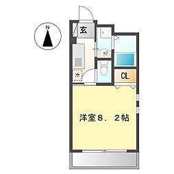 ラフィネコウテン[1階]の間取り