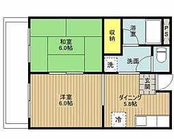 第一佐々木マンション[305号室]の間取り