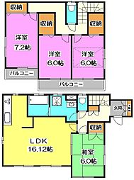 [一戸建] 埼玉県新座市西堀2丁目 の賃貸【/】の間取り