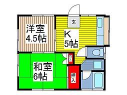 平澤荘[1階]の間取り