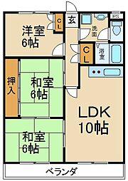 昇栄マンションI[3階]の間取り