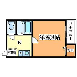 香川ハイツ[4階]の間取り