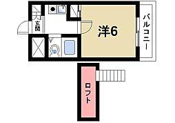 シティパレス生駒谷田町P-6[1階]の間取り