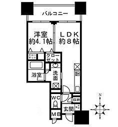 プレミスト堺筋本町ラディーナ[4階]の間取り