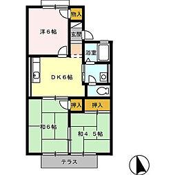 ホワイトベースB[2階]の間取り