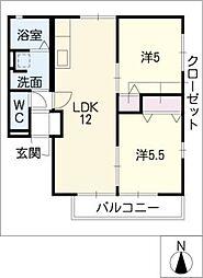 ビビヤマテ[1階]の間取り