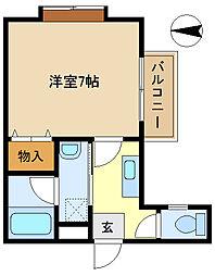 三愛コーポ袋山 101[1階]の間取り