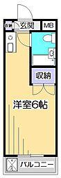 アネックス武蔵台[3階]の間取り