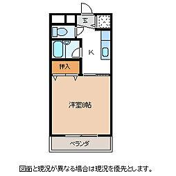 長野県諏訪市大字湖南の賃貸マンションの間取り