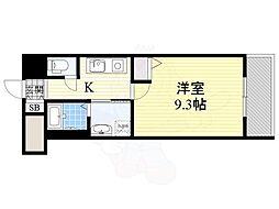 北大阪急行電鉄 桃山台駅 徒歩12分の賃貸マンション 7階1Kの間取り