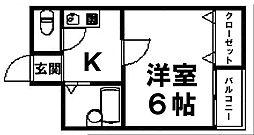 岸里駅・天下茶屋駅都徒歩圏[301号号室]の間取り