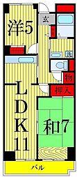 フレール綾瀬3[2階]の間取り
