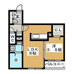AZURE24[5階]の間取り
