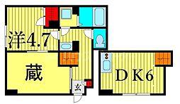 東京メトロ日比谷線 南千住駅 徒歩8分の賃貸アパート 1階1DKの間取り