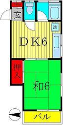 土田ハイツ[2階]の間取り