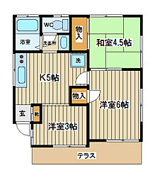 [一戸建] 東京都小金井市前原町4丁目 の賃貸【/】の間取り