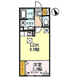 パーシモンIII[1階]の間取り
