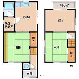 [一戸建] 和歌山県和歌山市中島 の賃貸【/】の間取り