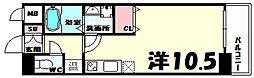 willDo三宮イースト 4階1Kの間取り