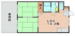 第2元木ビル[1階]の間取り