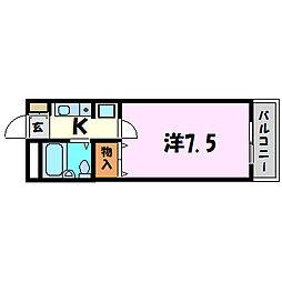 兵庫県尼崎市南武庫之荘3丁目の賃貸マンションの間取り