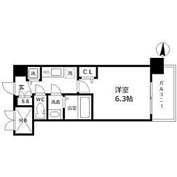 アドバンス新大阪ウエストゲート[7階]の間取り