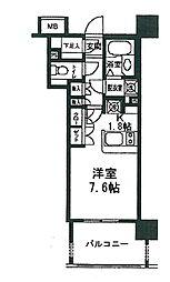 東京都港区三田5丁目の賃貸マンションの間取り