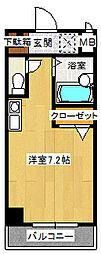 スタシオン[201号室]の間取り