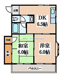 KTコスモ[1階]の間取り